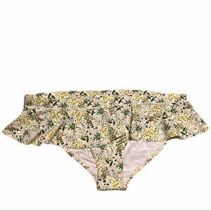 Tory Burch Floral Ruffle Bikini Bottoms Size XL